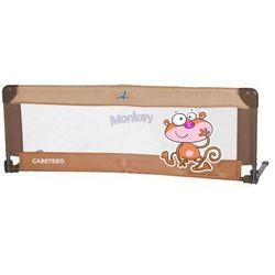 Caretero Barierka do łóżeczka dziecięcego Safari brown, towar z kategorii: Zabezpieczenia do łóżeczek