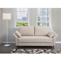 Sofa do spania beżowa - kanapa - rozkładana - wypoczynek - exeter marki Beliani
