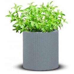 Doniczka cylinder planter srebrno-szary + zamów z dostawą jutro! marki Keter