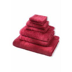 Komplet ręczników premium (7 części) jeżynowy marki Bonprix