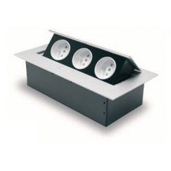 Gtv sp. z o.o. s.k.a Przedłużacz biurkowy 3x230v z uziemieniem aluminium gtv (5908231337689)