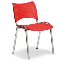 Plastikowe krzesła smart - chromowane nogi marki B2b partner