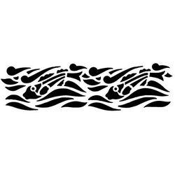 Szabloneria Szablon malarski z tworzywa, wielorazowy, wzór morski 13 - rybki