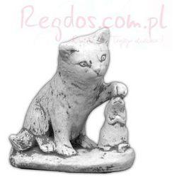 Figura ogrodowa betonowa kot z myszą 17cm - sprawdź w wybranym sklepie
