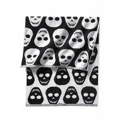 Ręczniki z motywem trupich czaszek czarno-biały marki Bonprix