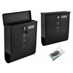 Skrzynka na listy pocztowa czarna na zamek (5902802907820)