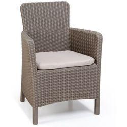 Allibert Krzesło ogrodowe Trenton cappuccino 226454 (8711245140377)