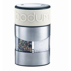 - młynek 2w1 do soli i pieprzu, mleczny,twin marki Bodum