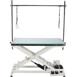 Chadog - Luminous Fix - stół groomerski z podnośnikiem elektrycznym i podświetlanym, szklanym blatem LED, blat 120x65 cm (5902194286008)
