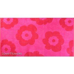 Ręcznik plażowy love flowers 100x180 marki Greno