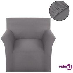elastyczny pokrowiec na sofę, bawełniany, szary marki Vidaxl