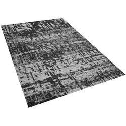 Dywan czarno-biały 160 x 230 cm krótkowłosy DAFNI (7105276437277)