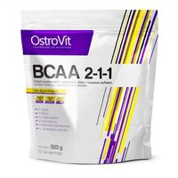 BCAA 2-1-1 L- Leucyna L- Izoleucyna L- Walina w proszku 500g pure OstroVit (5902232610154)