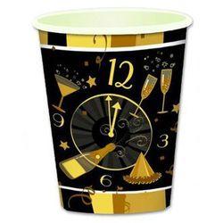 Tam Kubeczki papierowe zegar - złote party - 260 ml - 6 szt.