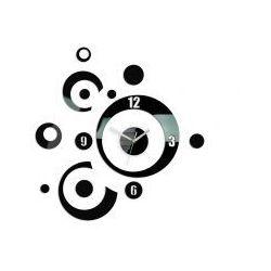Zegar ścienny Planet Black, kolor czarny