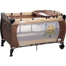 Łóżeczko turystyczne CARETERO Medio Classic brązowo-beżowy + DARMOWY TRANSPORT! z kategorii łóżecz