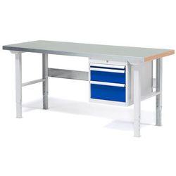 Stół warsztatowy solid, z 3 szufladami, 500 kg, 1500x800 mm, stal marki Aj produkty