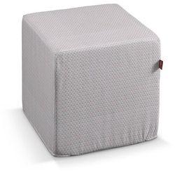 Dekoria Pufa kostka, różowo-szare trójkąty, 40 × 40 × 40 cm, Rustica do -30%