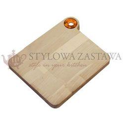 Deska do krojenia średnia 28,5X23X2 cm OMADA WOODY żółta, RBT_M3920GI