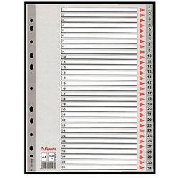 Przekładki plastikowe szare A4 1-31 Esselte 100108