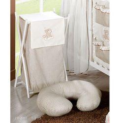 MAMO-TATO Kosz na bieliznę Śpioch na chmurce w brązie z kategorii Kosze na pranie