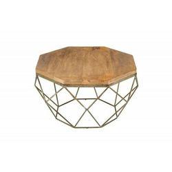 INVICTA stolik kawowy DIAMOND 70 cm - Mango, marmur, żelazo