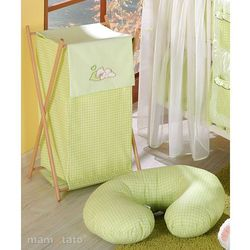 MAMO-TATO Kosz na bieliznę Śpiący miś w zieleni - sprawdź w wybranym sklepie