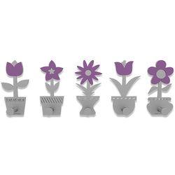 Wieszak ścienny little flowers  fioletowy marki Calleadesign