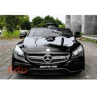 Mercedes S63 AMG 2x45W Skóra fotel Koła EVA Auto na akumulator Piękny!