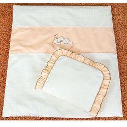 MAMO-TATO pościel 4-el Śpiący miś brzoskwiniowy do wózka z kategorii komplety pościeli dla dzieci