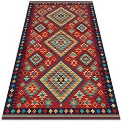 Piękny dywan zewnętrzny Piękny dywan zewnętrzny Kolorowe trójkąty retro