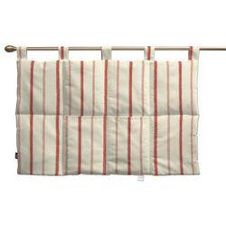 wezgłowie na szelkach, ecru tło, czerwone paski, 90 x 67 cm, avinon marki Dekoria
