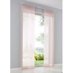 Bonprix Prześwitująca zasłona panelowa, jednokolorowa (1 szt.) dymny lila
