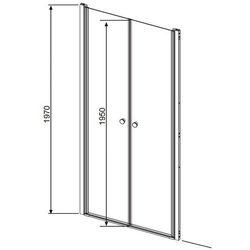 Radaway Eos DWD drzwi wnękowe dwuczęściowe (wahadłowe) 80 cm 37713-01-01N - oferta (f5d9277ca7615773)