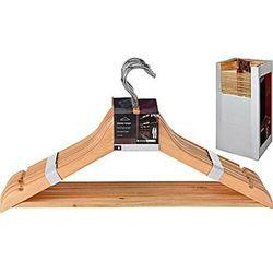 Kpl.8 wieszaków ubraniowych drewniane