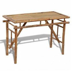 Składany bambusowy stół ogrodowy Eventer, vidaxl_41505