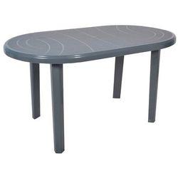 Stół Jantar owalny 135 x 80 cm szary, obi_2526515