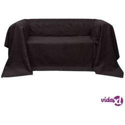 Vidaxl pokrowiec/narzuta na kanapę micro zamsz brąz 270 x 350 cm (8718475955276)