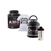 a.m.g + t-shirt + creasteron + shaker 875g+1szt+1400g+1szt, marki Hi-tec nutrition