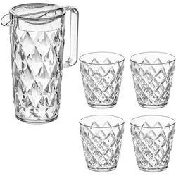 Dzbanek CRYSTAL + 4 szklanki - kolor przeźroczysty, KOZIOL