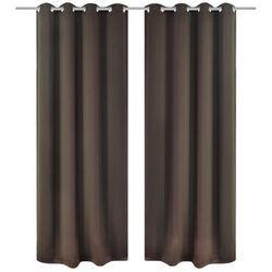 Zasłony zaciemniające z kółkami, 2 szt., 135x175 cm, brązowe
