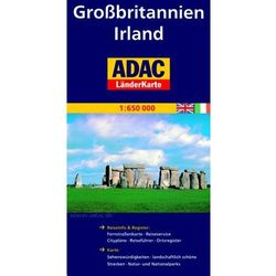 Grossbritannien. Irland. ADAC LanderKarte 1:650 000 (praca zbiorowa)