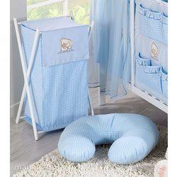 MAMO-TATO Kosz na bieliznę Tulisie w błękicie - produkt z kategorii- Kosze na pranie