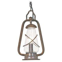 Zewnętrzna lampa wisząca miners chain  zwis metalowy oprawa ogrodowa ip43 outdoor ciemny brąz od producenta Elstead