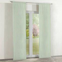 zasłony panelowe 2 szt., zielono białe pasy (1,5cm), 60 × 260 cm, quadro marki Dekoria