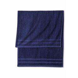 Komplet ręczników (6 części) granatowy marki Bonprix