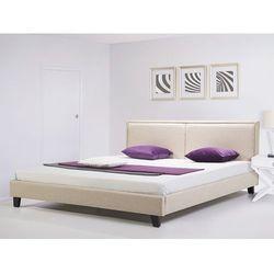 Nowoczesne lózko tapicerowane ze stelazem 140x200 cm bezowe REVEL - produkt z kategorii- łóżka
