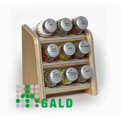 półka z przyprawami 9-el. jasne drewno mat 5901832920885 marki Gald