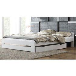 Łóżko drewniane niwa 140x200 białe z materacem piankowym marki Meble magnat