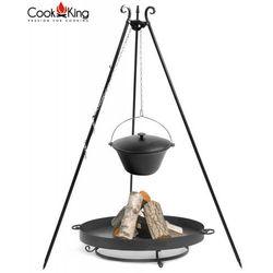 Cook&king Kociołek żeliwny 16l na trójnogu + palenisko ogrodowe malta 70 cm
